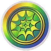Round Beach Towel featuring the digital art Rainbow Design 5 by Chuck Staley