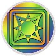 Round Beach Towel featuring the digital art Rainbow Design 6 by Chuck Staley