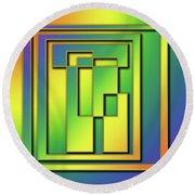 Round Beach Towel featuring the digital art Rainbow Design 7 by Chuck Staley