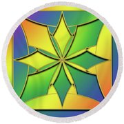 Round Beach Towel featuring the digital art Rainbow Design 8 by Chuck Staley
