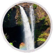 Round Beach Towel featuring the photograph Rainbow Falls I by Patricia Griffin Brett