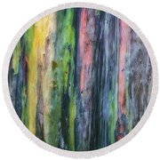 Rainbow Forest Round Beach Towel