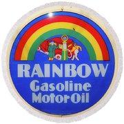 Rainbow Gasoline Round Beach Towel