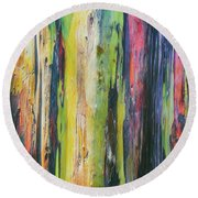 Rainbow Grove Round Beach Towel