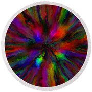 Rainbow Grunge Abstract Round Beach Towel