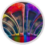 Rainbow Hill Round Beach Towel
