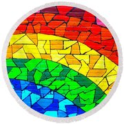 Rainbow ... Round Beach Towel