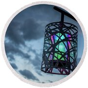 Rainbow Light Round Beach Towel