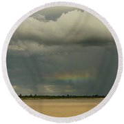Rainbow Magic Round Beach Towel