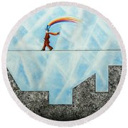 Rainbow Man Round Beach Towel