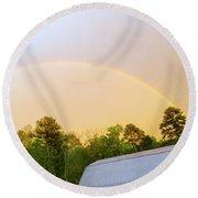 Rainbow Round Beach Towel by Melissa Messick
