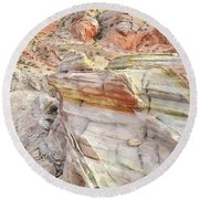 Rainbow Of Color At Valley Of Fire Round Beach Towel