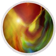 Rainbow Of Love Round Beach Towel