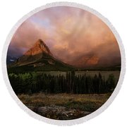 Rainbow Over Mt Gould Round Beach Towel