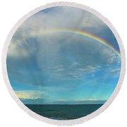 Rainbow Over Topsail Island Round Beach Towel