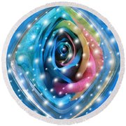 Rose Planet Round Beach Towel