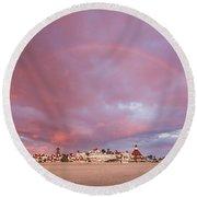 Rainbow Proposal Round Beach Towel