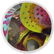 Rainbow Spiral Starscape Round Beach Towel