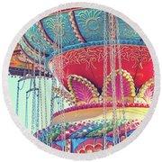 Rainbow Swings Round Beach Towel