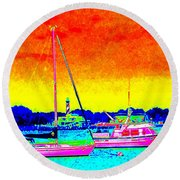 Rainbow Tide Round Beach Towel
