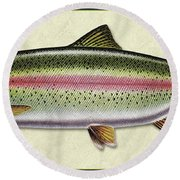 Rainbow Trout Id Round Beach Towel