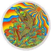Rainbow Trout Round Beach Towel