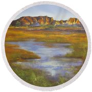 Rainbow Valley Northern Territory Australia Round Beach Towel