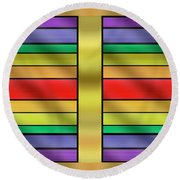 Round Beach Towel featuring the digital art Rainbow Wall Hanging Horizontal by Chuck Staley