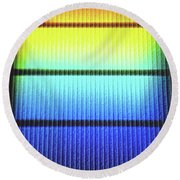 Rainbow1 Round Beach Towel