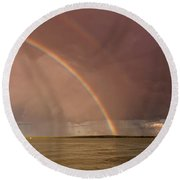 Rainbows Round Beach Towel