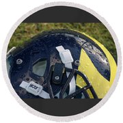 Raindrops On Wolverine Hellmet Round Beach Towel