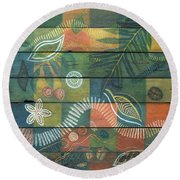Rainforest Regeneration  Round Beach Towel