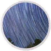 Raining Stars In Ruidoso Round Beach Towel