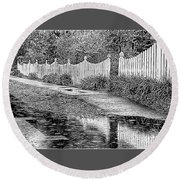 Round Beach Towel featuring the photograph Rainy Day by Betsy Zimmerli