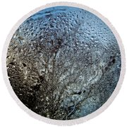 Rainy Day - Water Drops On Window Round Beach Towel