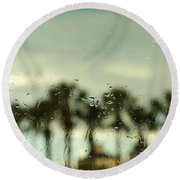 Rainy Daze Round Beach Towel by Christopher L Thomley