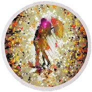 Rainy Love Round Beach Towel