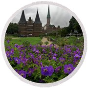 Rainy Luebeck Is Beautiful Round Beach Towel
