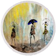 Rainydaywalk Round Beach Towel