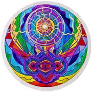 Raise Your Vibration Round Beach Towel