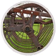 Round Beach Towel featuring the photograph Rake 3118 by Guy Whiteley