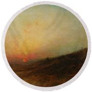 Ralph Albert Blakelock  1847  1919  Indian Encampment At Sunset Round Beach Towel