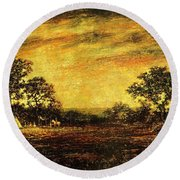 Ralph Blakelock, Indian Encampment Round Beach Towel