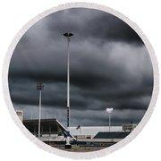 Ralph Wilson Stadium 5803 Round Beach Towel by Guy Whiteley