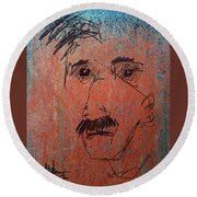 Ralphy Round Beach Towel by Jim Vance