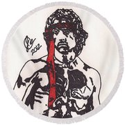 Rambo First Blood Part II Round Beach Towel