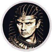 Ramses II Round Beach Towel by Fred Larucci