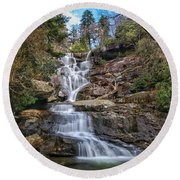 Ramsey Cascades - Tennessee Waterfall Round Beach Towel