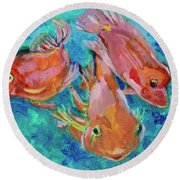 Ramshead Goldfish Round Beach Towel