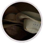 Ranch Hats Round Beach Towel
